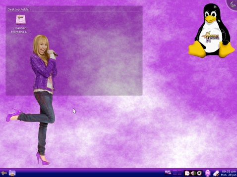 Hannah Montana Linux